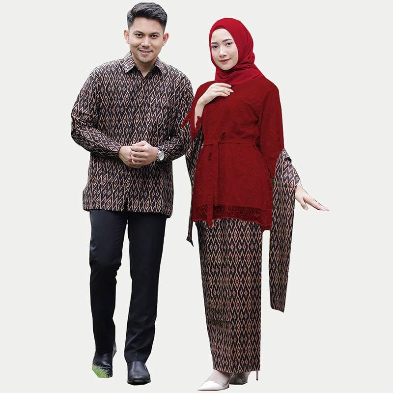 Jual Backo Motif Alita Ruffle Brokat Atasan Batik Couple Online Desember 2020 Blibli