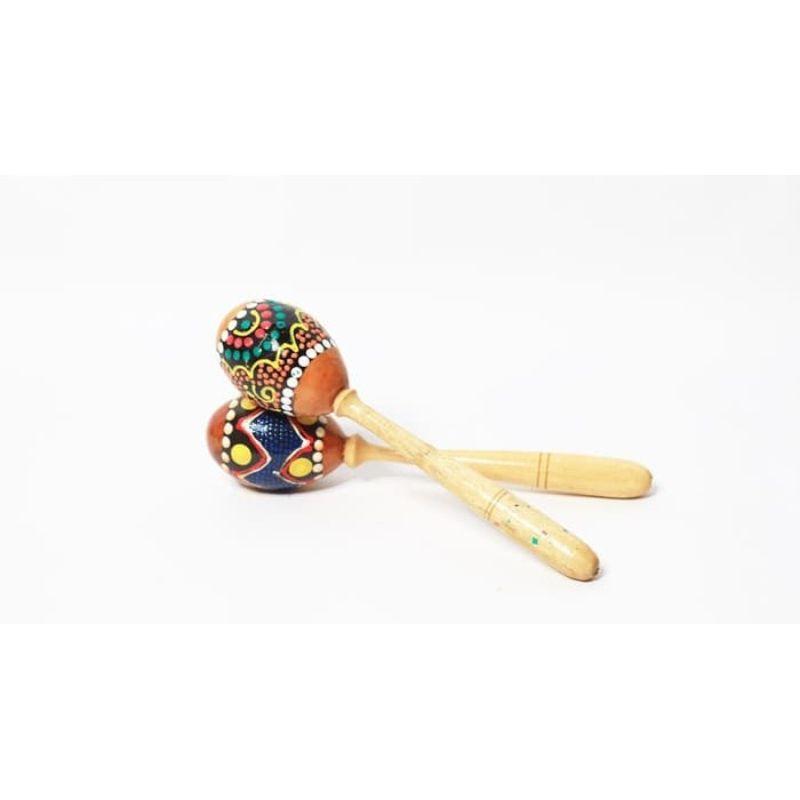 JARVIS H02 Marakas Genggam Motif Mainan Tradisional