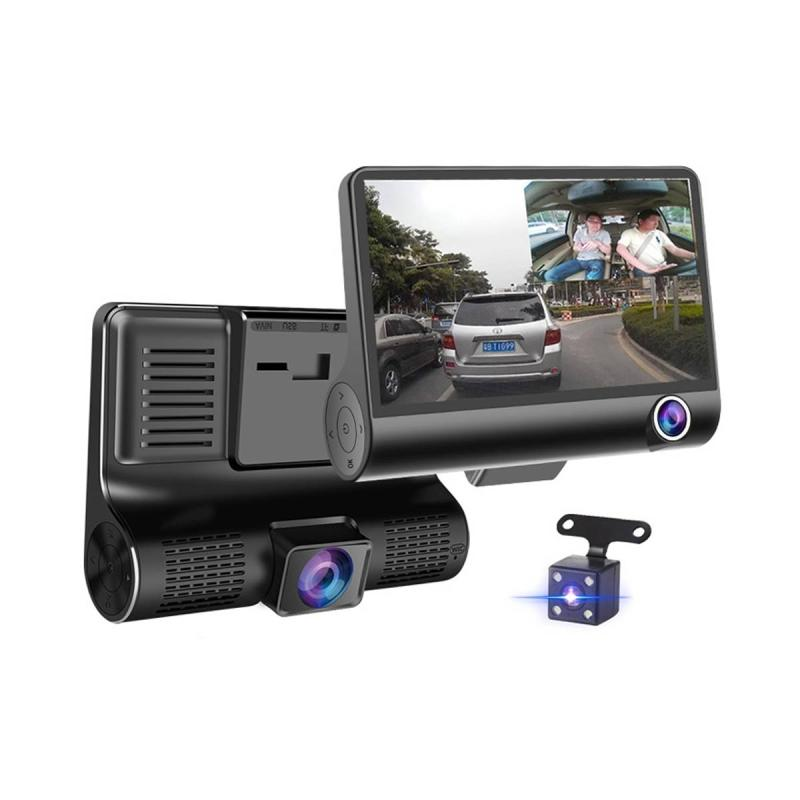 Rearview Camera Vehicle Backup Camera Waterproof Hidden Mini Camera Vehicle Cameras Back Safety Parking Assist Line 8 LED Night Vision Lights Wide-Angle 170 Degrees