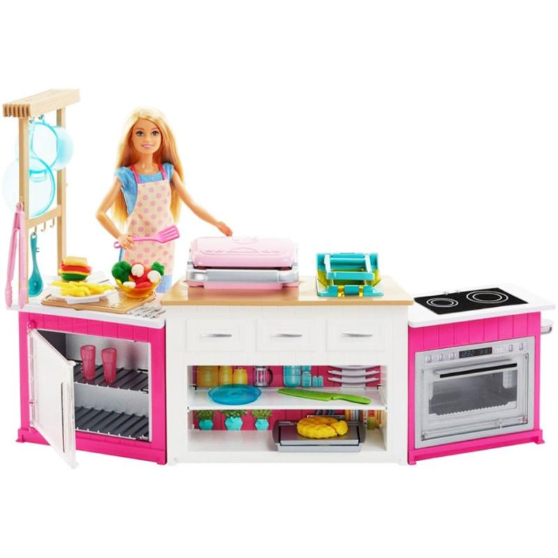 Jual Barbie Kitchen Playset Mainan Anak Original 100 Frh73 Online November 2020 Blibli Com