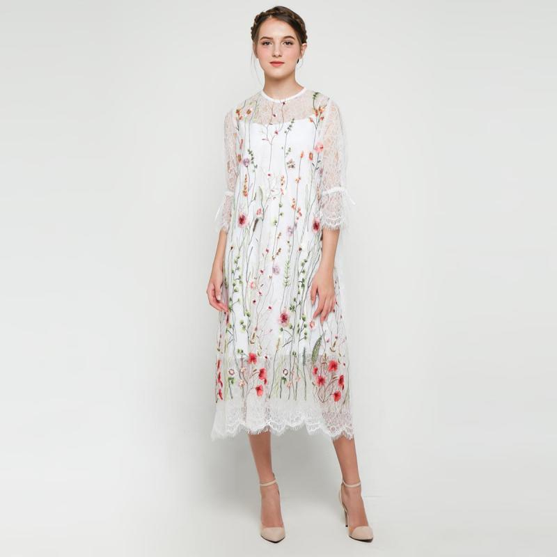 Kalla Studio BLIKS20 Zola Dress Wanita White