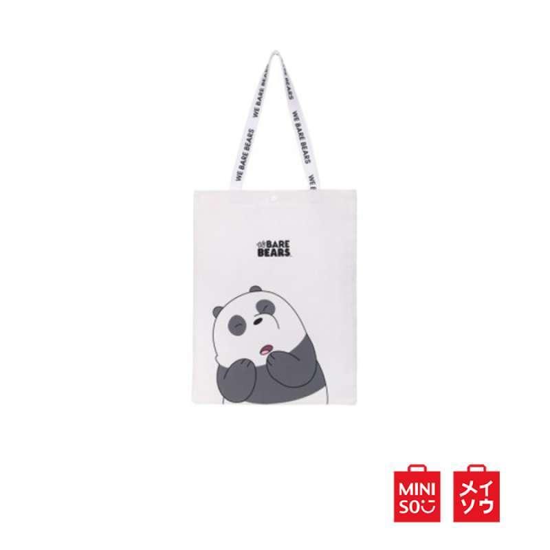 Miniso Official We Bare Bears Shopping Bag Wanita