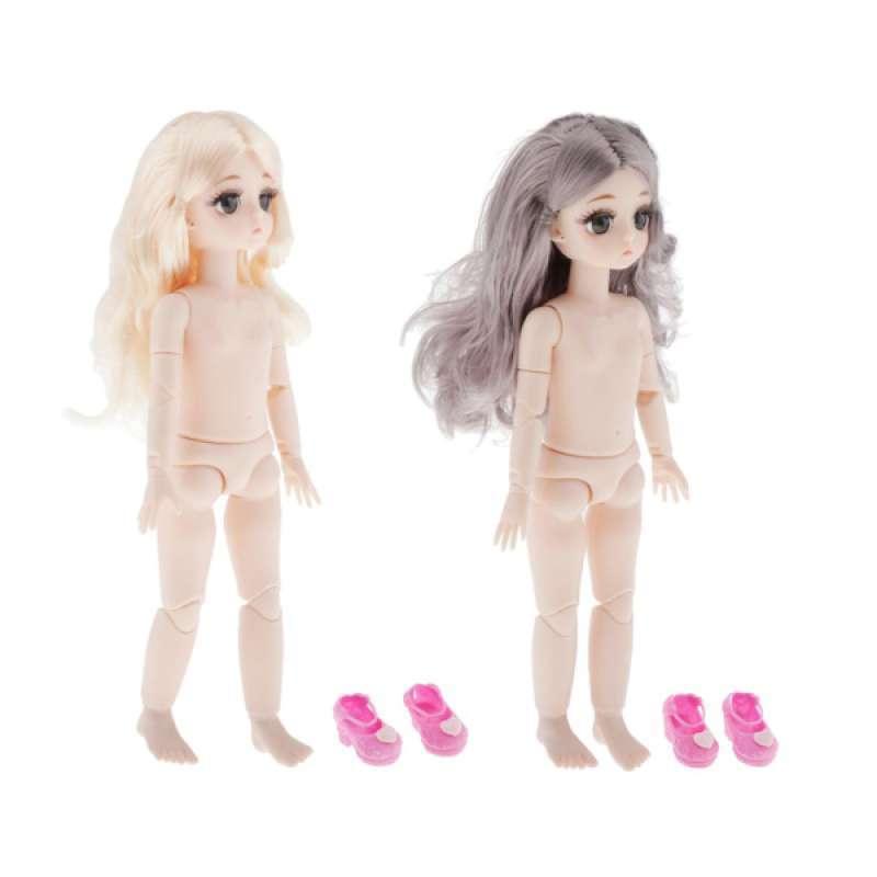 4 Pieces Fashionable 28cm BJD Girl Doll Naked Body DIY Custom for Girls Gift