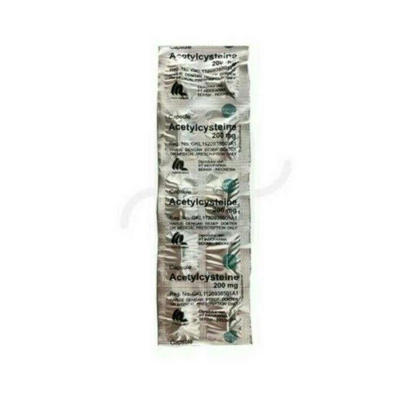 Jual Indofarma Acetylcystein Obat Resep Dokter 200mg Strip 10 Kapsul Online Februari 2021 Blibli