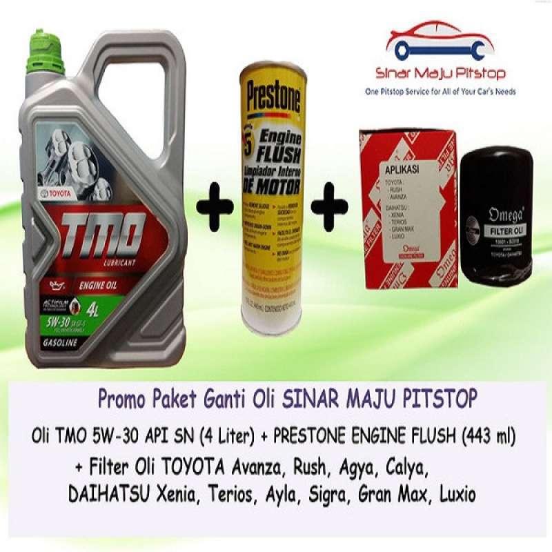 Jual Tmo 5w 30 Api Sn Paket Ganti Oli Mobil For Toyota Avanza Rush Agya Calya 4 L Filter Oli Prestone Engine Flush Online Februari 2021 Blibli