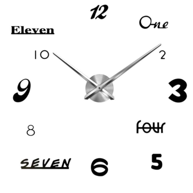 Jual Diy 3d Wall Clock Acrylic Decorative Kitchen Wall Clocks Living Room Decor Online Desember 2020 Blibli