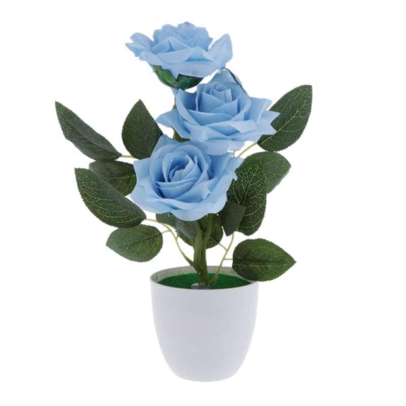 Jual Lifelike Rose Silk Flower Bouquet Bonsai Potted Fake Plant For Events Dinner Online Desember 2020 Blibli