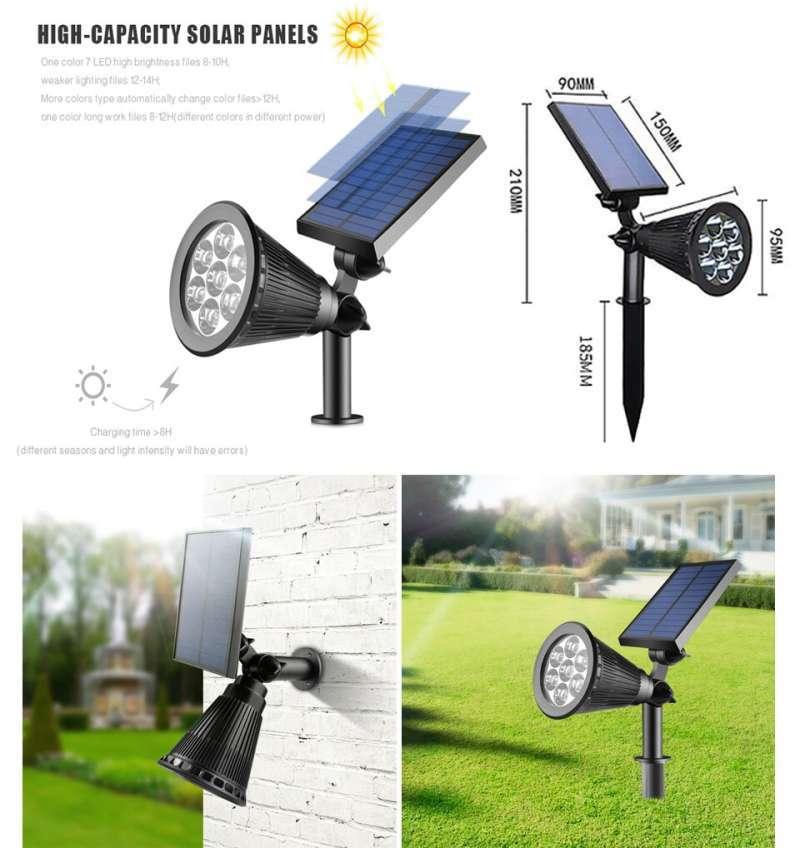Jual Lampu Sorot Taman Tenaga Surya Lampu Solar Panel Surya Led Spotlight Lampu Outdoor Online April 2021 Blibli