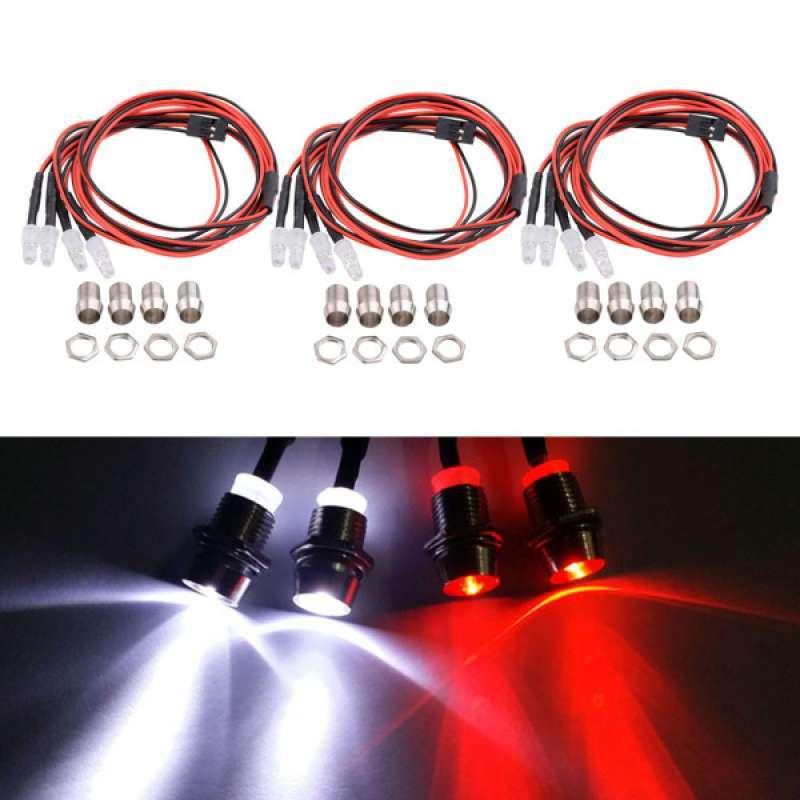 2Set 4 LED Light Headlight Kit 3mm for 1//5 1//8 1//10 1//12 1//16 RC Car Truck Model