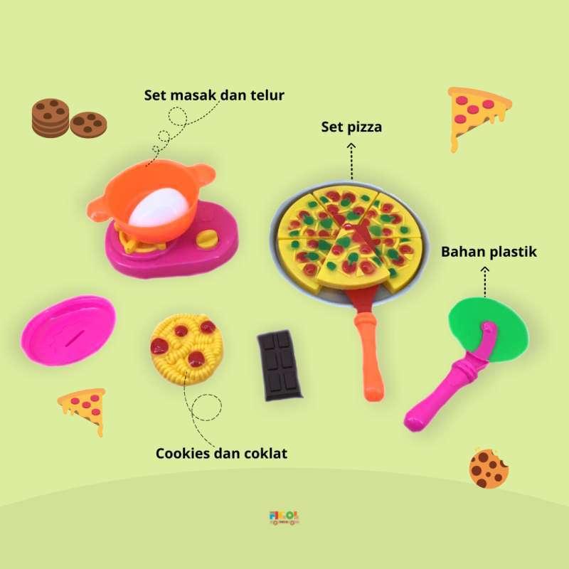 Jual Mainan Jual Jualan Pizza Set Toys Ada Cookies Dan Coklat Im 3024 Pizza Hut Toys Online November 2020 Blibli Com