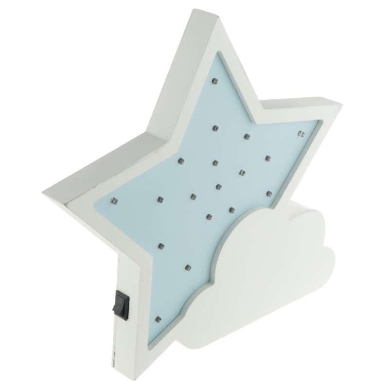 Jual Led Night Light 3d Wall Kids Children Lamp Gift Home Decor Warm Light Star Online Januari 2021 Blibli