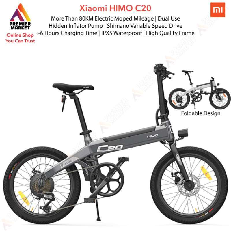 Xiaomi Himo C20 Sepeda Listrik Electric Smart Moped Bicycle