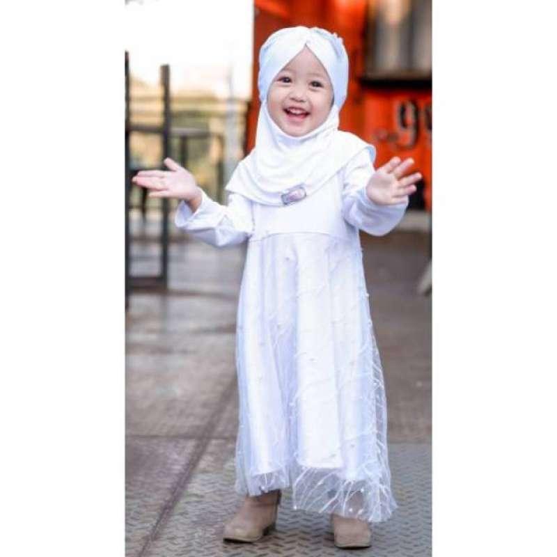 Jual Gamis Pesta Anak Putih Lebaran Kebaya Gaun Baju Jersey Aqiqah Manasik Online Maret 2021 Blibli