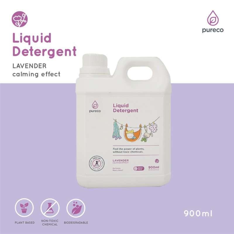 CUCI BAJU 900ml Pureco Liquid Detergent Refill Size 900ml