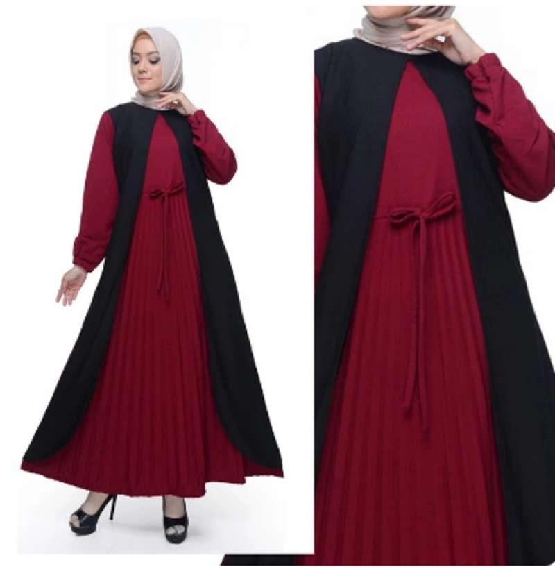 Jual Okechuku Dinar Baju Gamis Wanita Terbaru Baju Muslim Wanita Plisket Online Januari 2021 Blibli