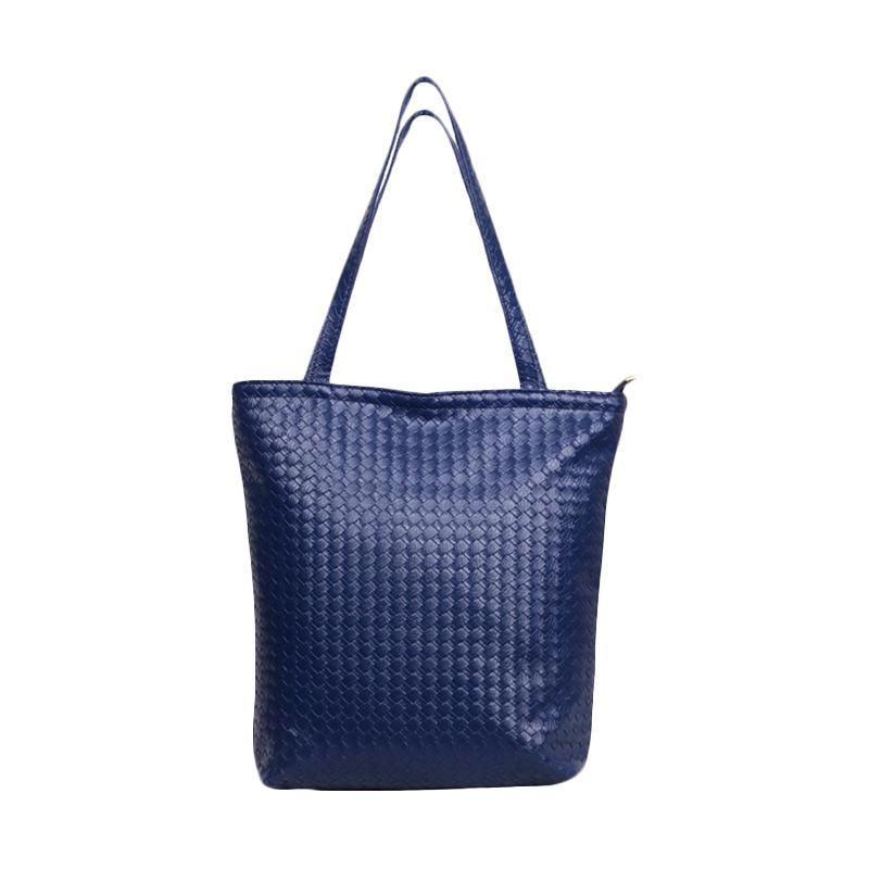 Chloe Babyshop Anyam Tote Bag - Navy