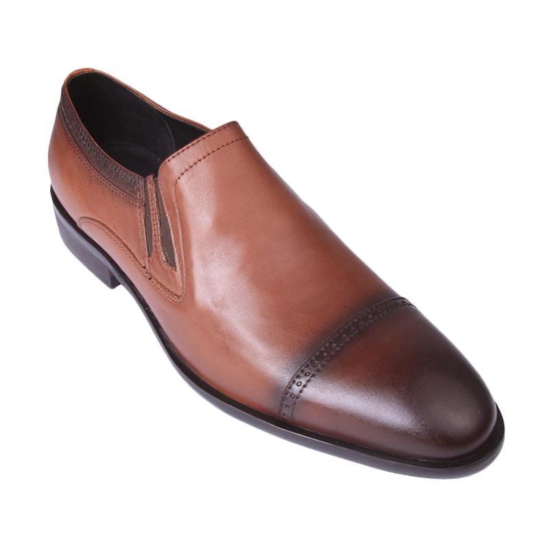Ftale Footwear Corleone Mens Shoes Sepatu Pria - Brown