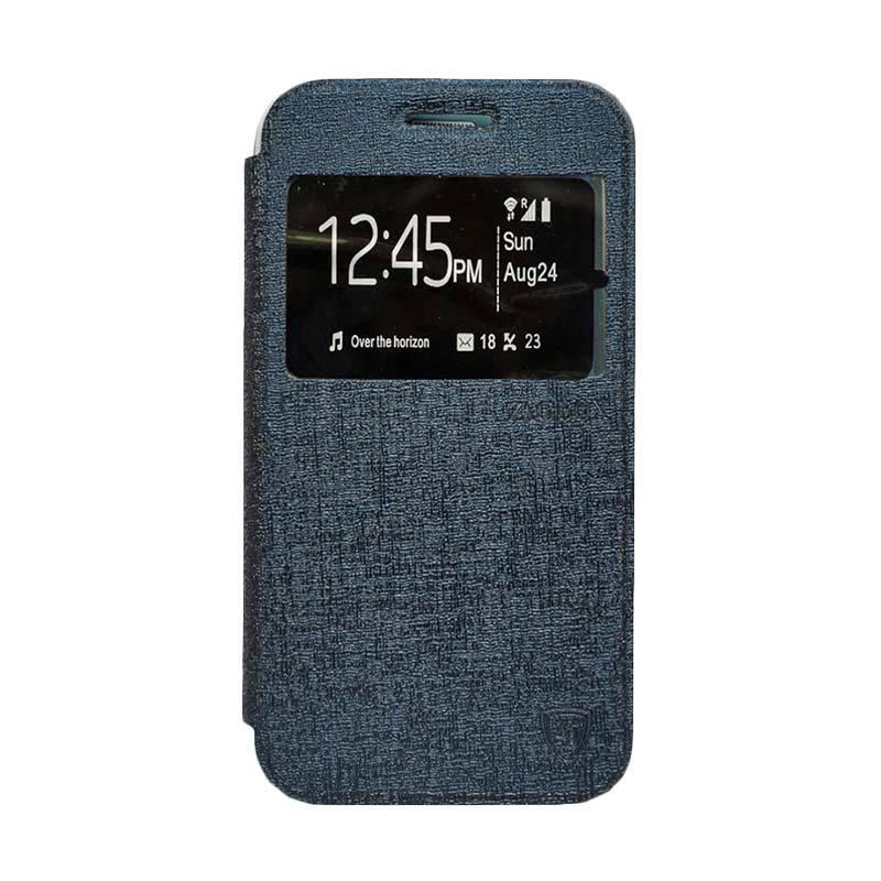 Zagbox Flip Cover Casing for Huawei Y5 - Biru Dongker