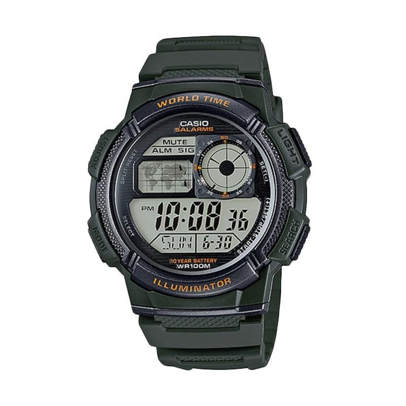 Jual Casio AE-1000W-3AVDF Jam Tangan Pria - Hijau Dark Online - Harga    Kualitas Terjamin  dee9f3c41b