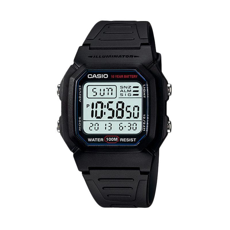 Casio W-800H-1AV Digital Watch Jam Tangan Pria - Black