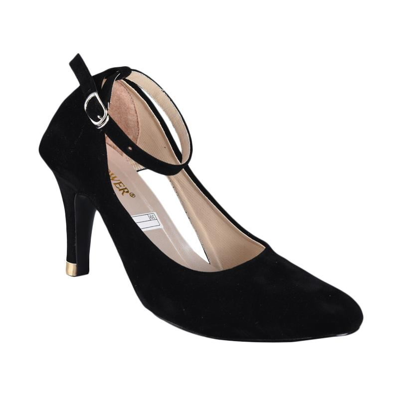 FP - Flower SN-265 Sepatu High Heels Wanita - Black