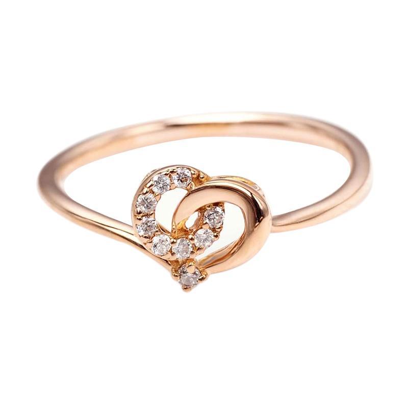Tiaria DMKMJZ015 Cincin Tunangan Emas Berlian