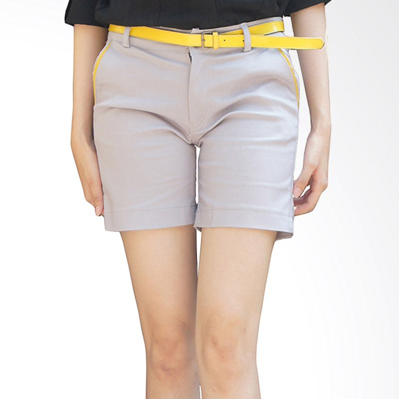 harga Adore Ladies Hot Pant Celana Pendek Wanita - Light Grey Blibli.com