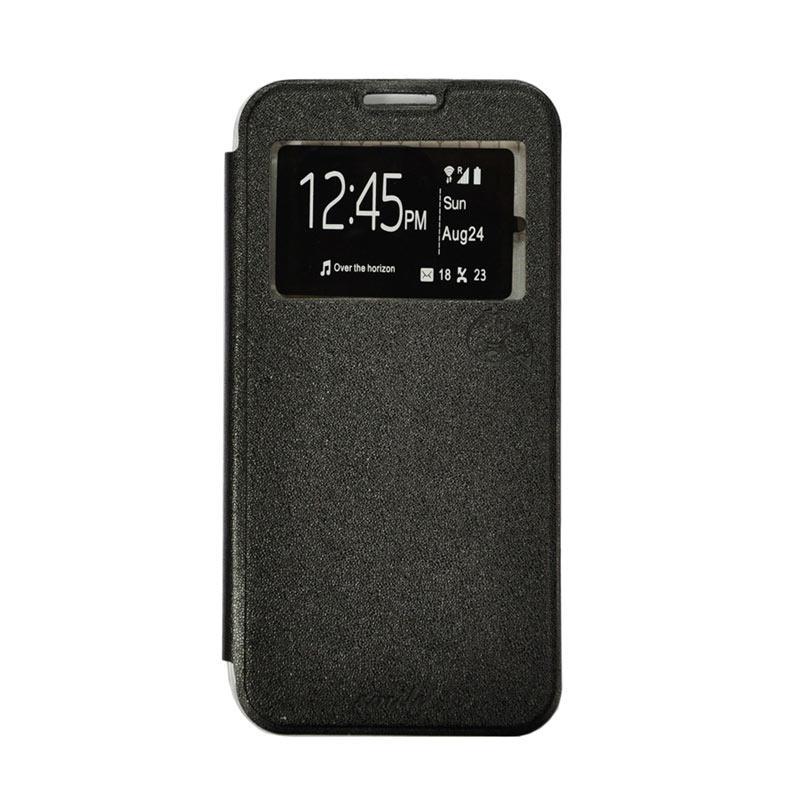 Smile Flip Cover Casing for Oppo F1S A59 - Hitam