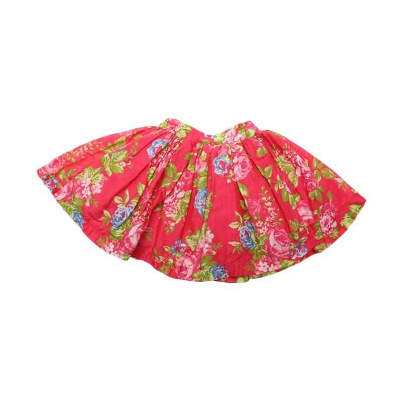 Adel & Audrey Skirt Flower 128 Rok Anak - Red