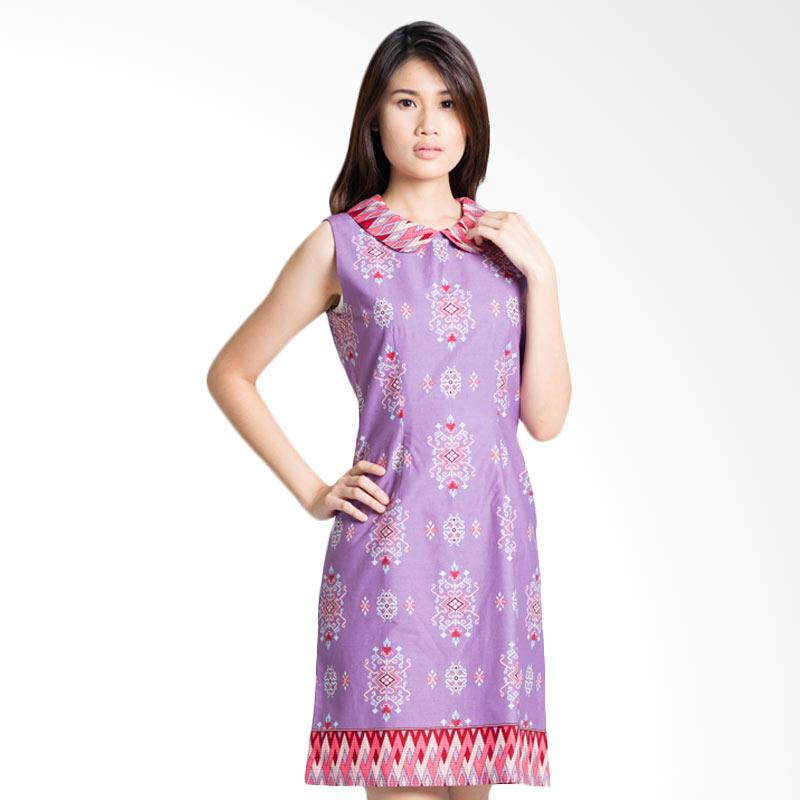 Bateeq 15-055 Sleeveless Cotton Dress - Purple