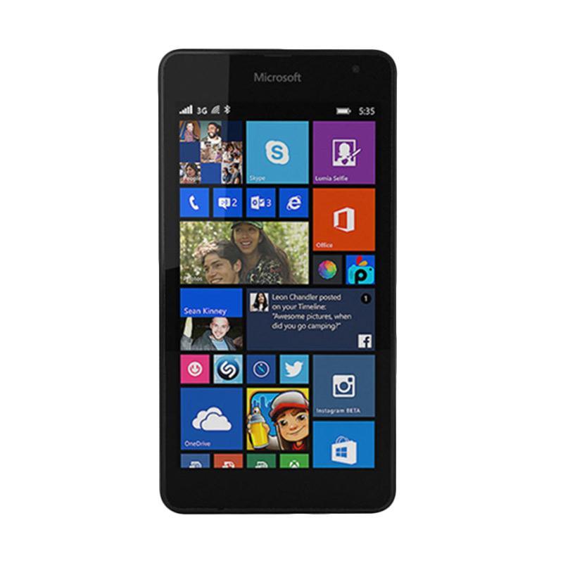 Microsoft Lumia 535 RM1090 Handphone - Black [Dual SIM/ 8 GB]