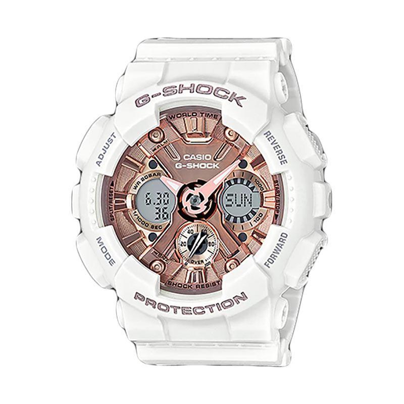 CASIO G-Shock Jam Tangan Pria GMA-S120MF-7A2DR - White