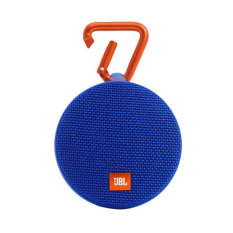 JBL Clip 2 Waterproof Bluetooth Speaker - Biru
