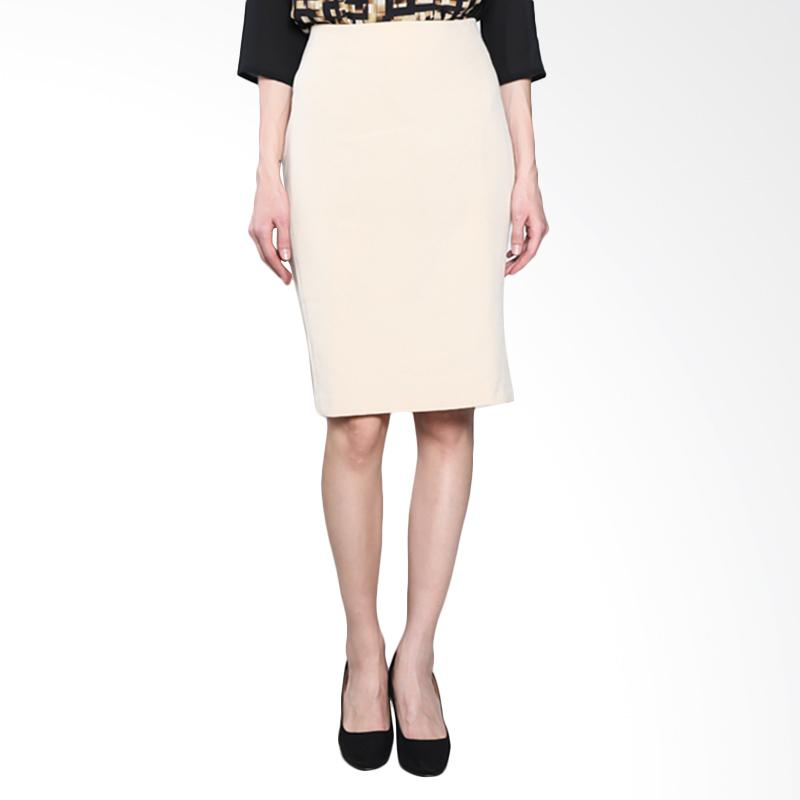 PS Career PC304FC00542 Stretch Midi Skirt - Cream