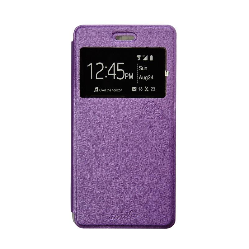 Smile Flip Cover Casing for Asus Zenfone C or Asus Zenfone 4C - Ungu