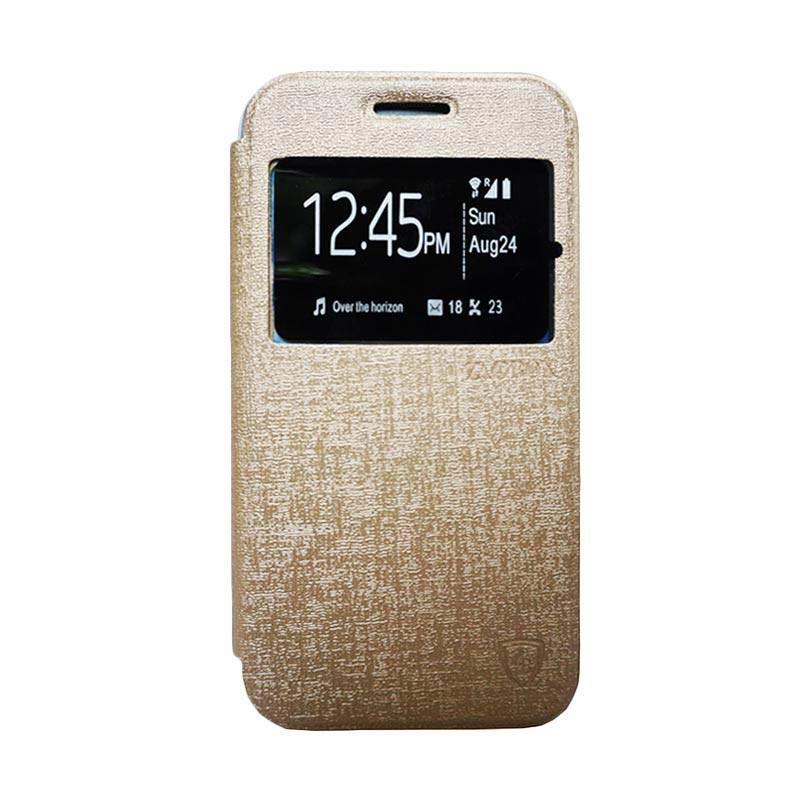 Zagbox Flip Cover Casing for Xiaomi Redmi Note 3 - Gold