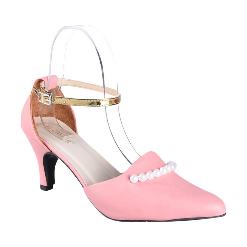 Flower SN-081 High Heels Sepatu Wanita - Pink