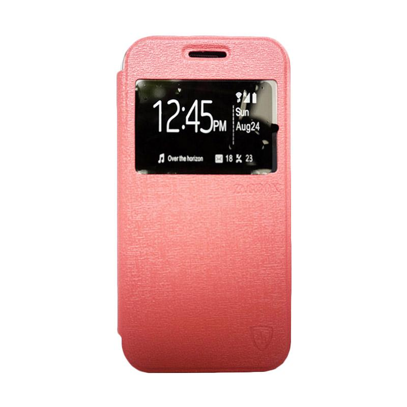 Zagbox Flip Cover Casing for Samsung Galaxy E7 - Pink