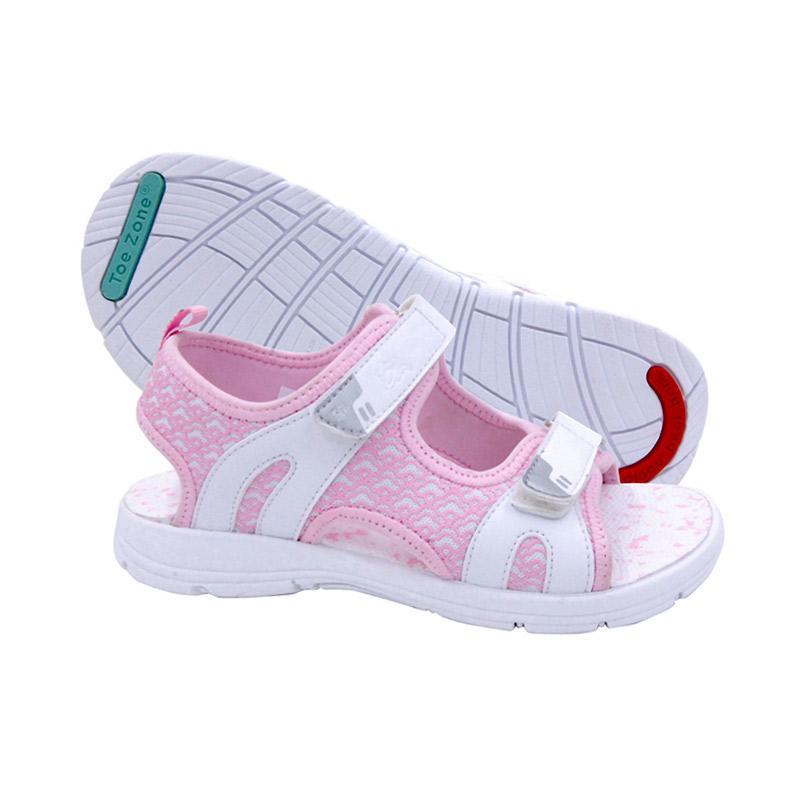 Toezone Kids Jenner 2 Ch Sepatu Anak Perempuan - White Pink