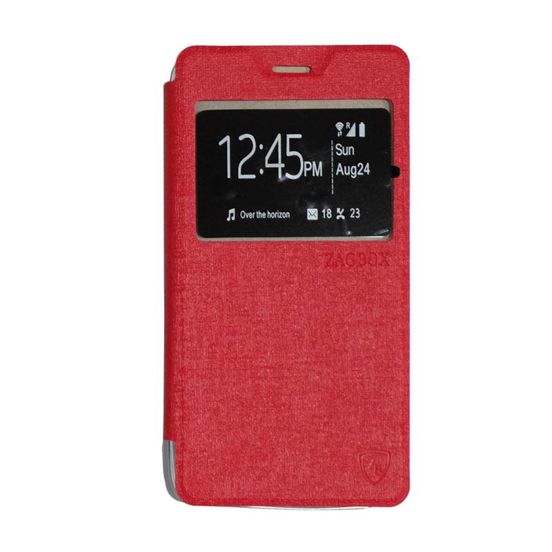 ZAGBOX Flip Cover Casing for Lenovo A6600 - Red
