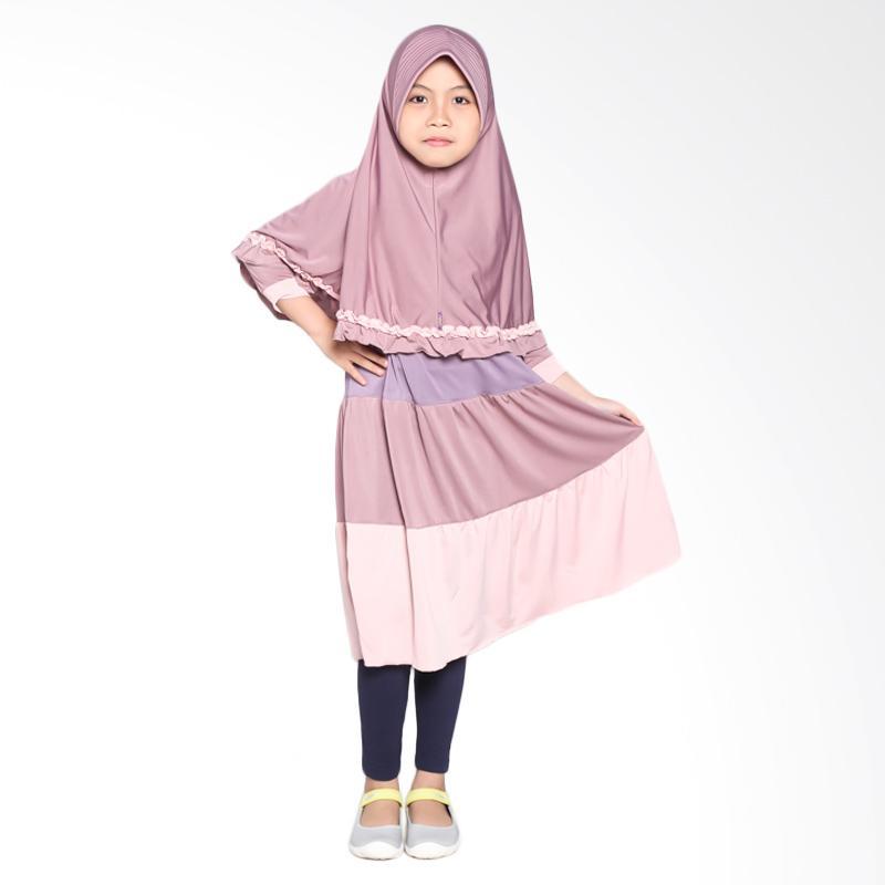Allev Zhaqina Terasi Baju Muslim Anak - Ungu