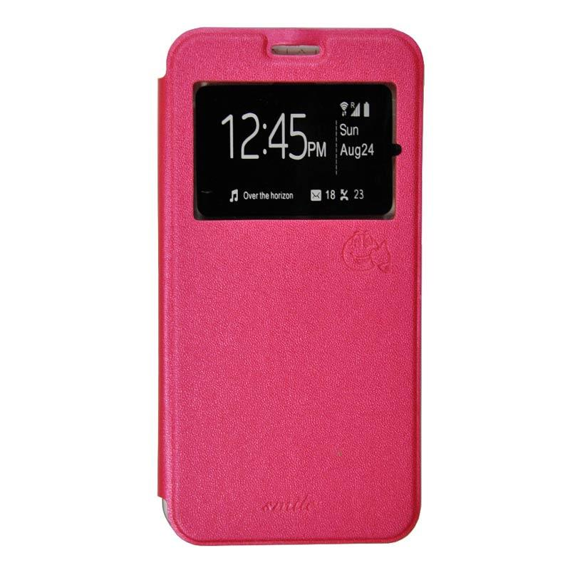 Smile Flip Cover Casing for Xiaomi Redmi 2 - Hot Pink