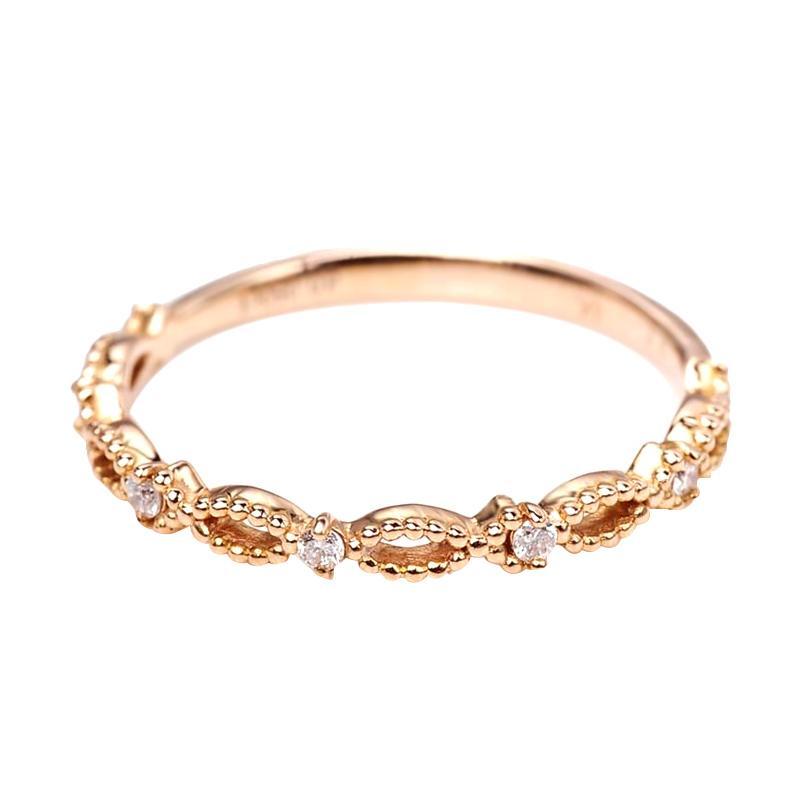 Tiaria DMKMJZ014 Perhiasan Emas Cincin Berlian