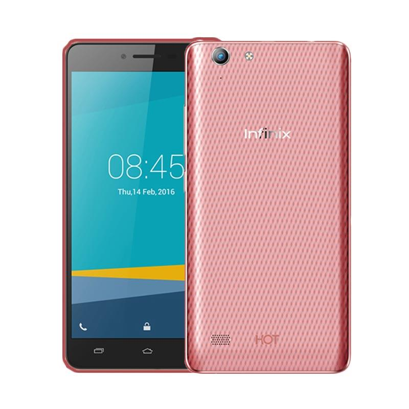 Ultrathin Casing for Infinix Hot 3  - Red Clear