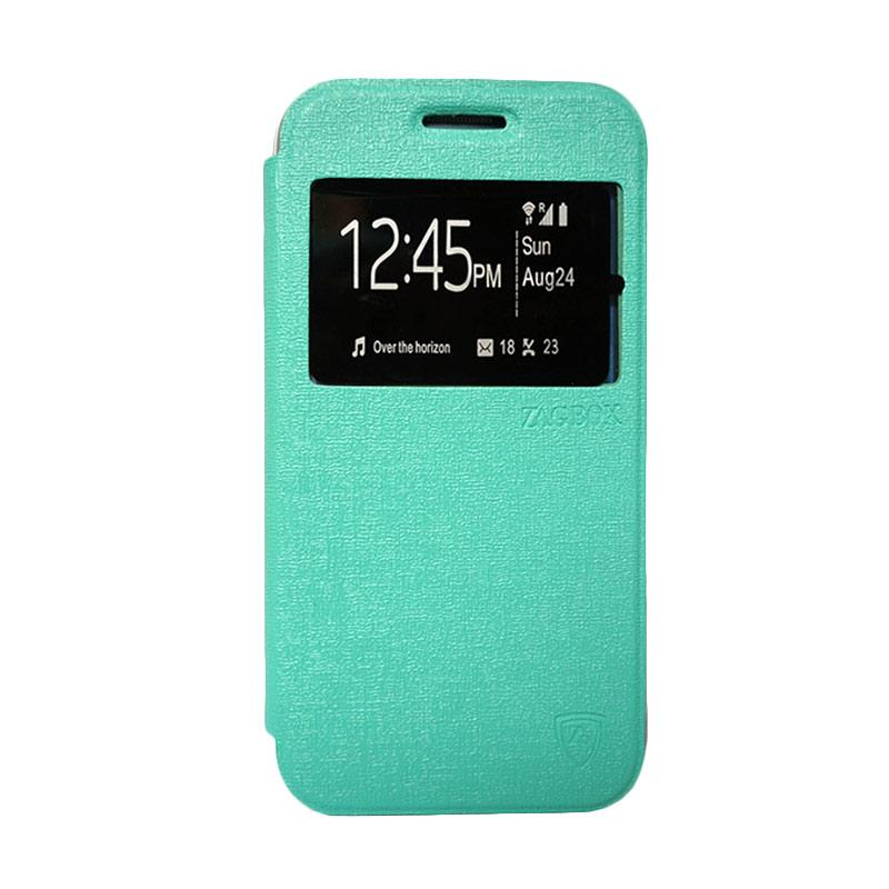 Zagbox Flip Cover Casing for Coolpad Max - Hijau Tosca