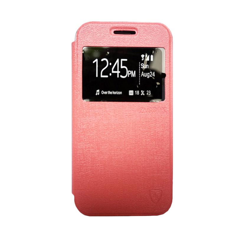 Zagbox Flip Cover Casing for Samsung Galaxy J5 - Pink