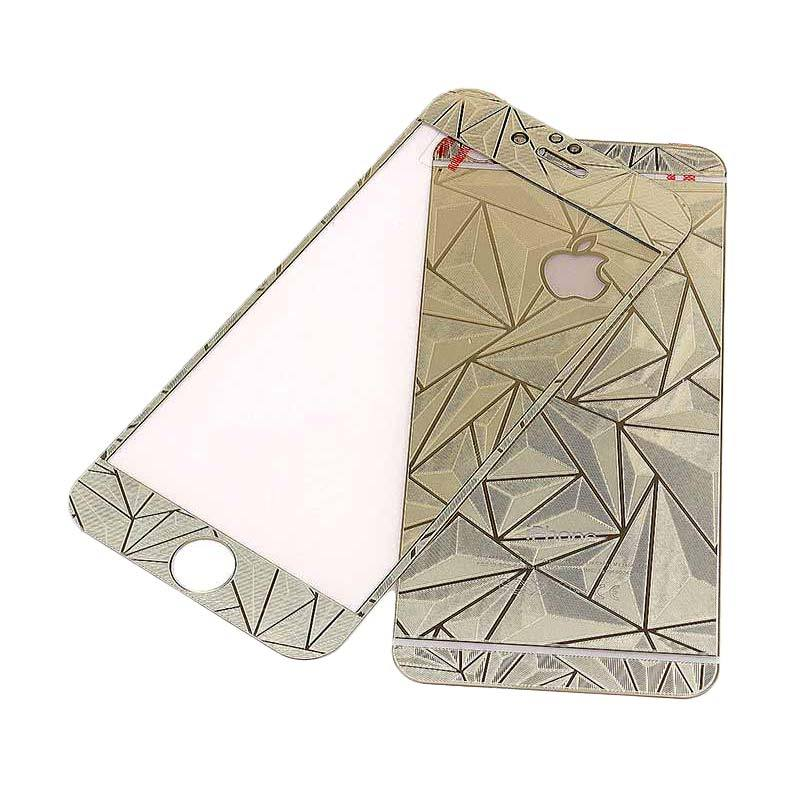 The King Tech Tempered Glass Screen Protector Diamond Gold for iPhone 5/5s