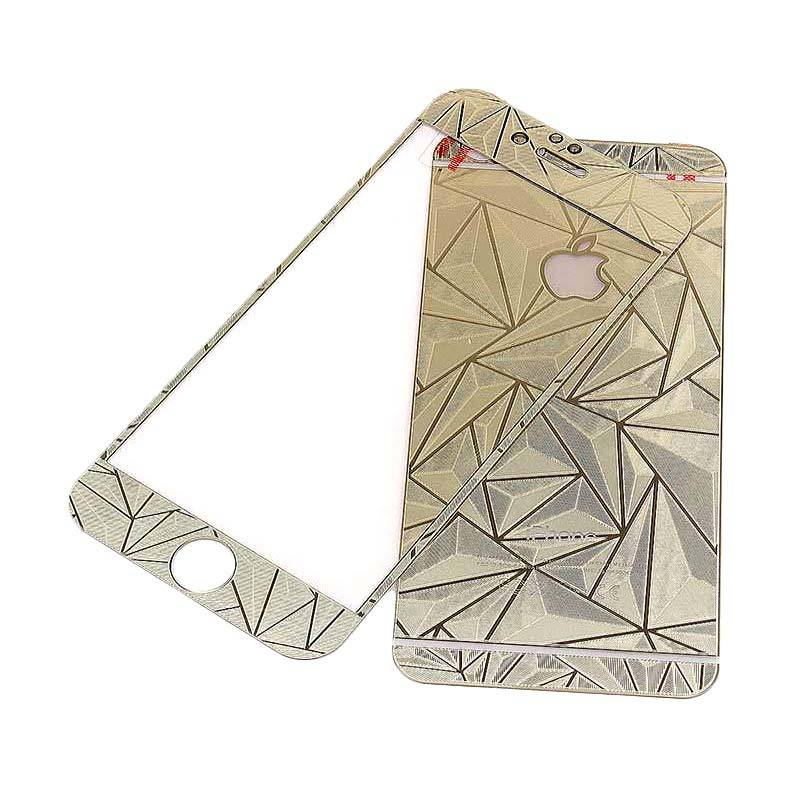 The King Tech Tempered Glass Screen Protector Diamond Gold for iPhone 6/6s