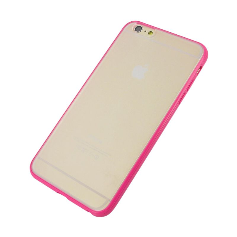 The King Tech Bumper List Pink Casing for iPhone 4