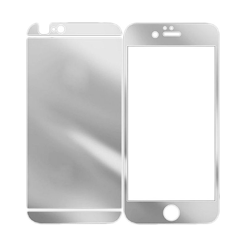 The King Tech Mirror 2 in 1 Silver Tempered Glass for iPhone 6 Plus